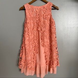 Blu Pepper Dresses - Blu Pepper Pink Lace Dress
